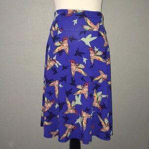 Lularoe Azure Humming bird print skater skirt XL